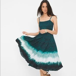 NWT WHBM Dip Dye Fit and Flare Dress